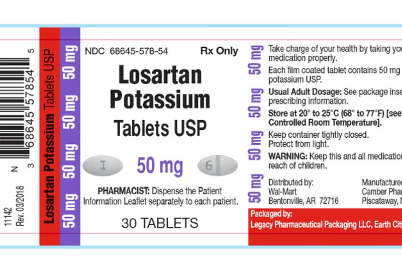 More lots of blood pressure medications recalled due to impurity