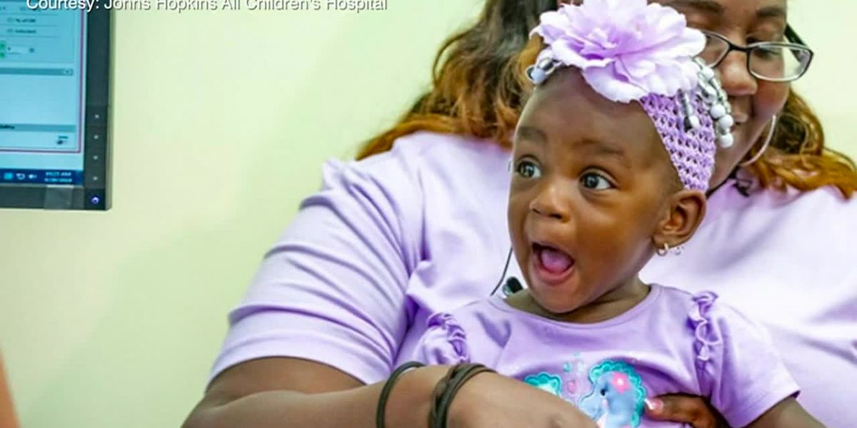 Toddler hears mom say 'I love you' for first time