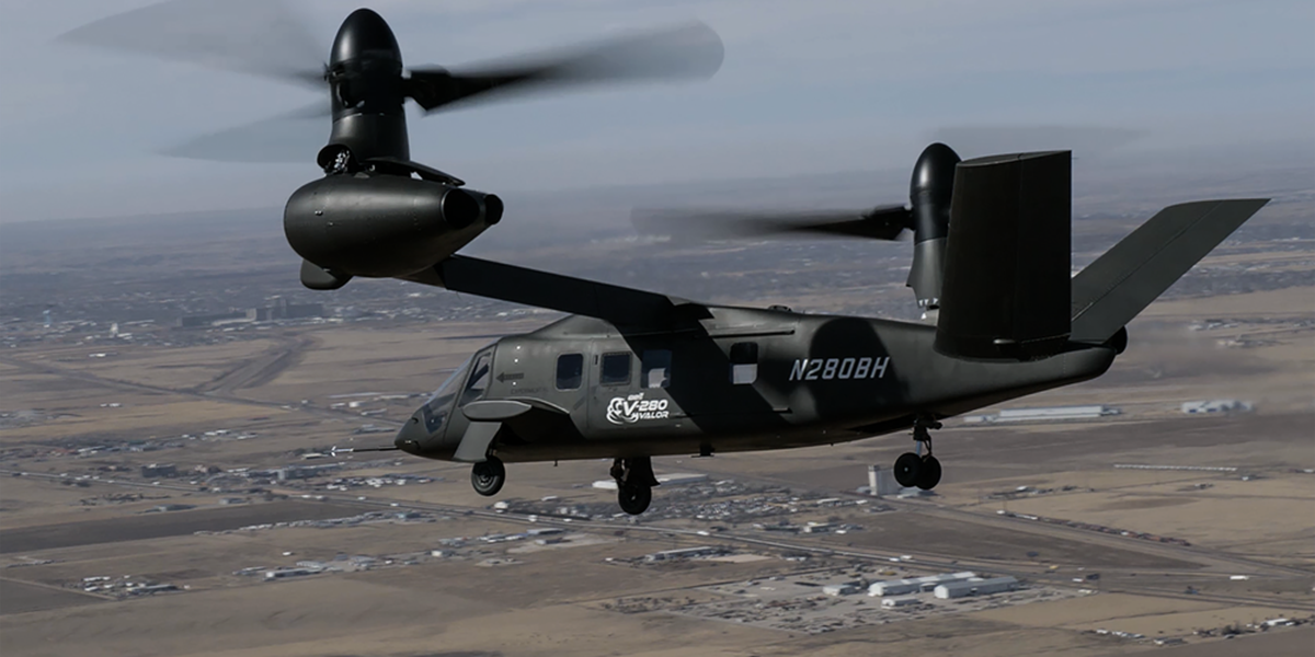 Bell's V-280 Valor completes demonstration of low-speed agility flight