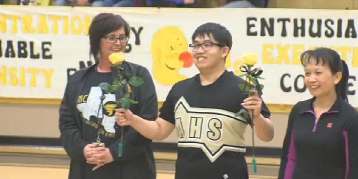 Dream comes true for AHS cheerleader honored 'Senior Night'
