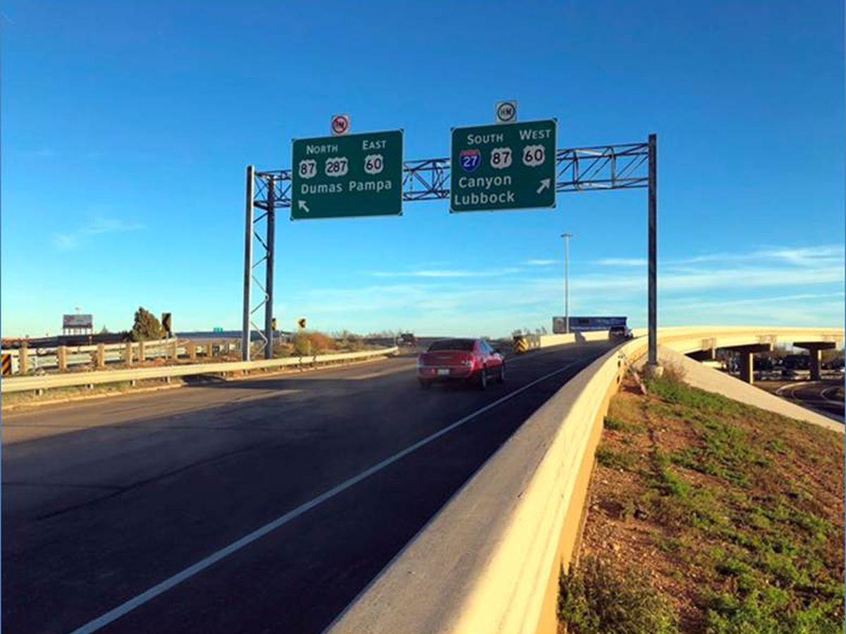 I-40 eastbound connect to I-27 southbound now permanently open