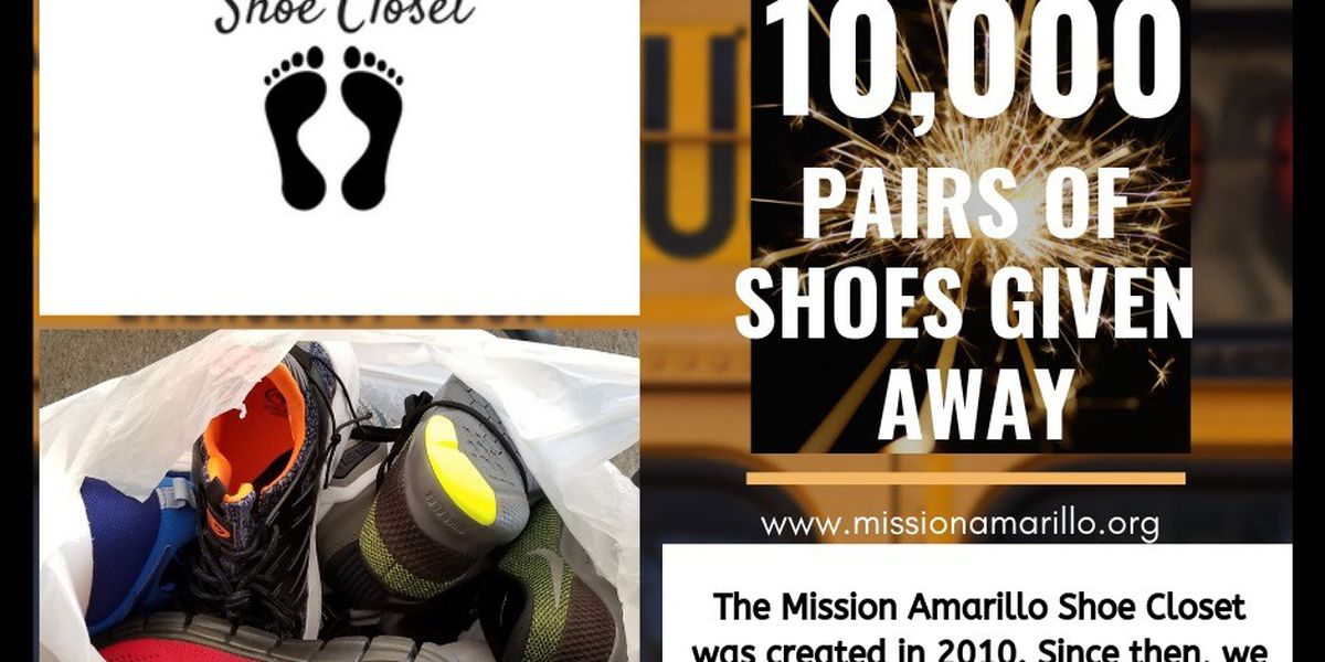 Mission Amarillo Shoe Closet celebrates giving away 10,000 pairs of shoes