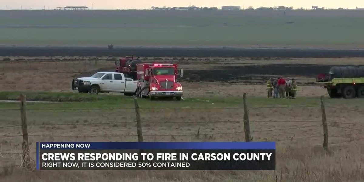 Crews responding to grass fire in Carson County