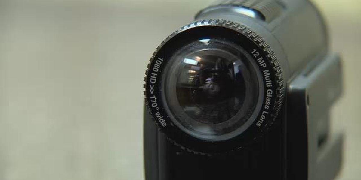 Camera found in public restroom causing concern