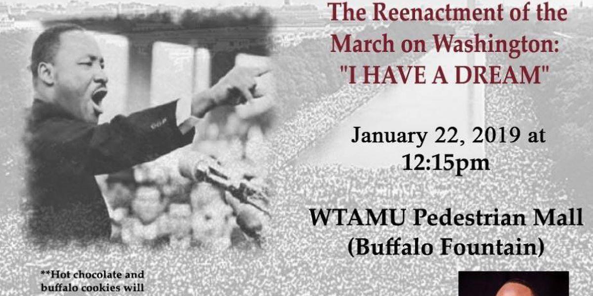 WTAMU's Black Student Union reenacting MLK's 'I Have a Dream' address