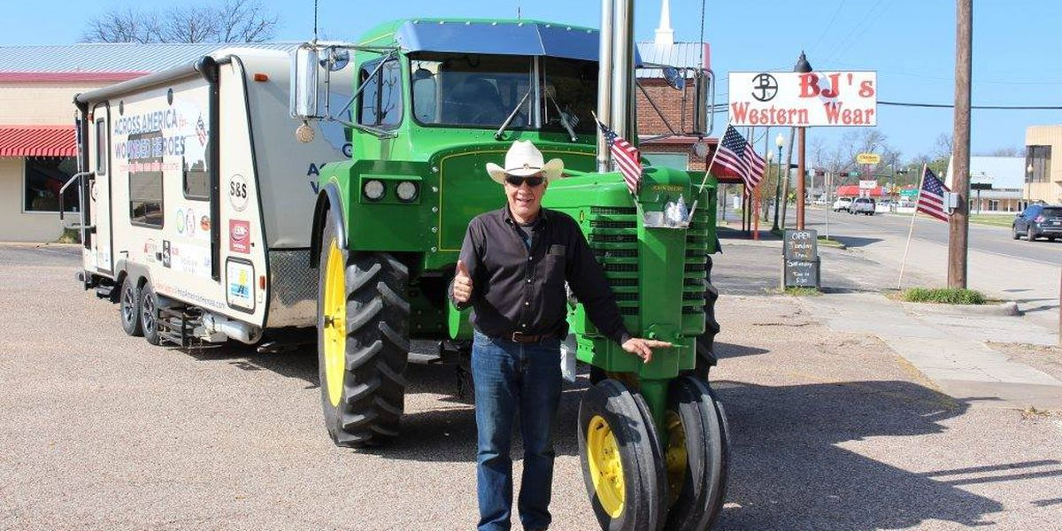 Farmer hopes to 'change lives one mile at a time' on his tractor