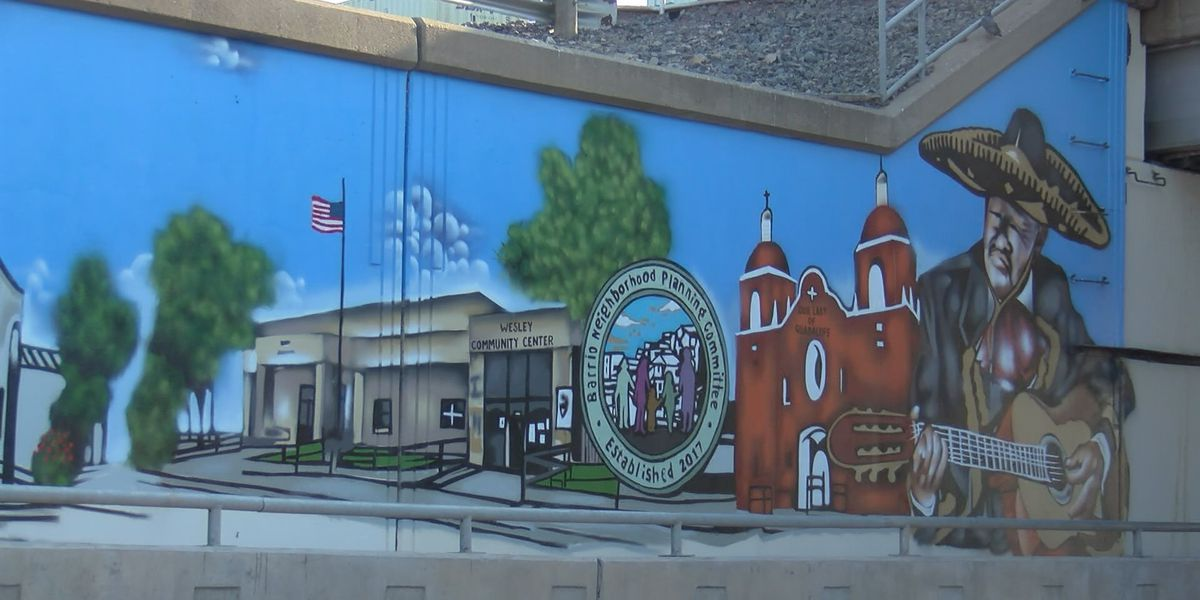 SE 10th underpass mural displays Barrio history, community pride