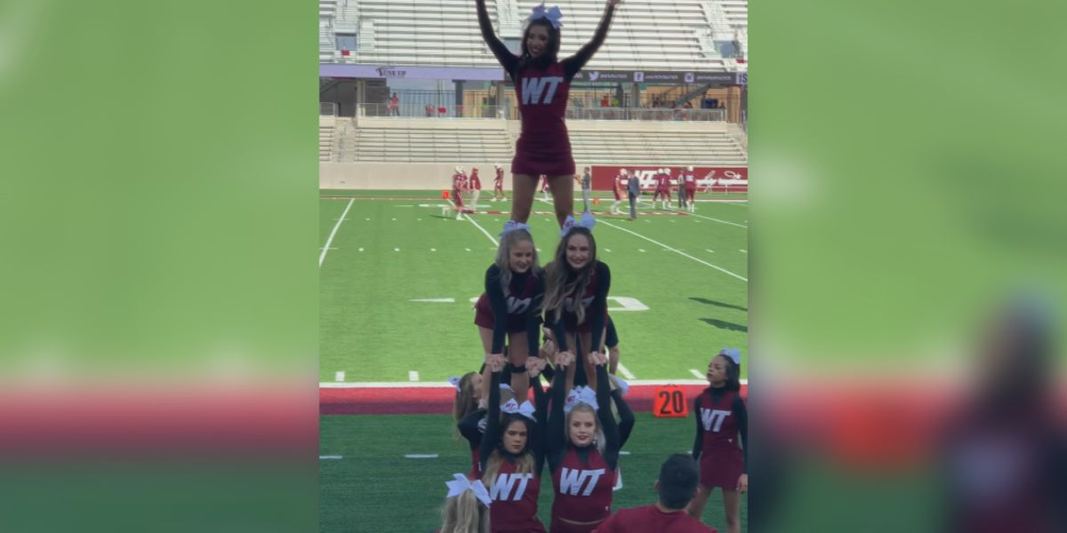West Texas A&M's new spirit Team, University Spirit, eliminates stunts and combines dance and Maroon Platoon