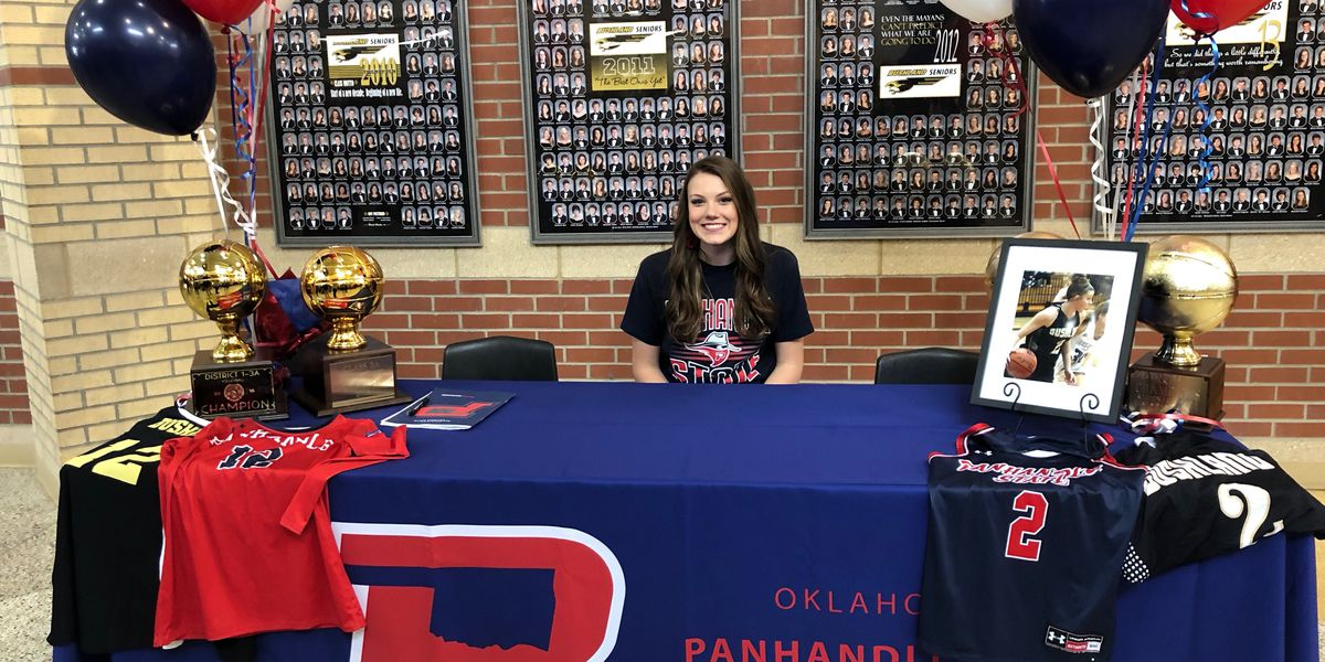 Bushland star Skylar Cleavinger commits to play two sports at OPSU