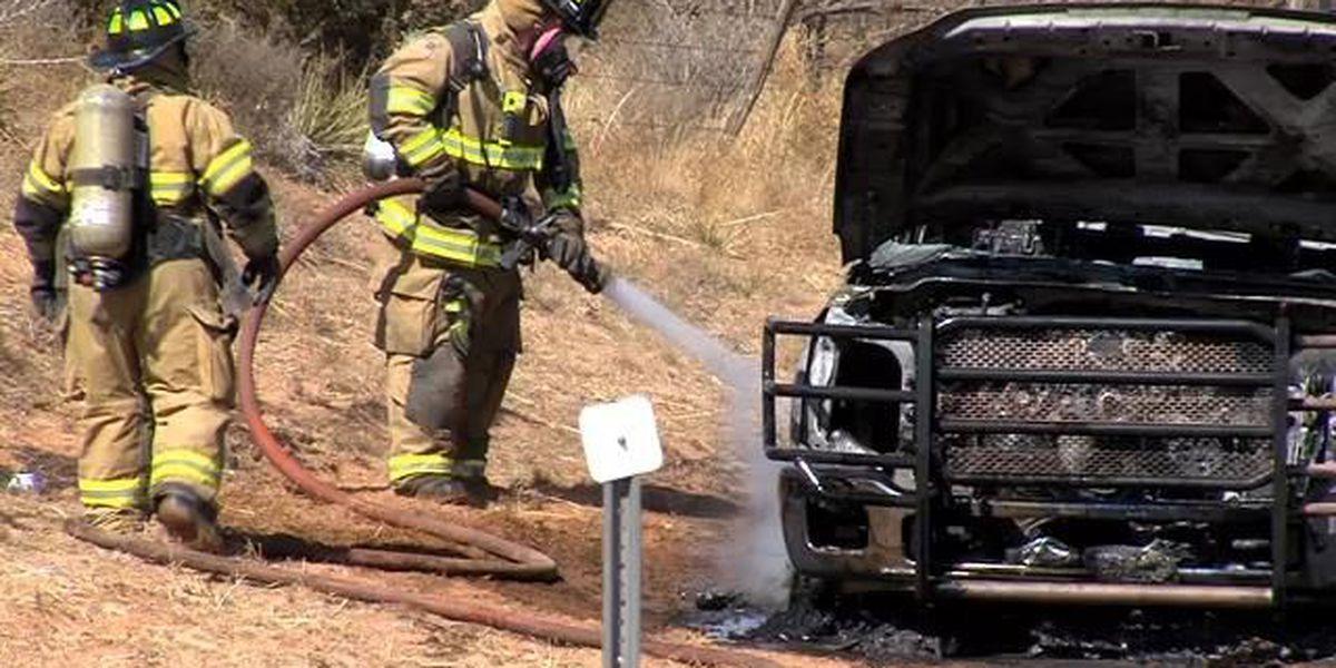 Grass fire in north Amarillo