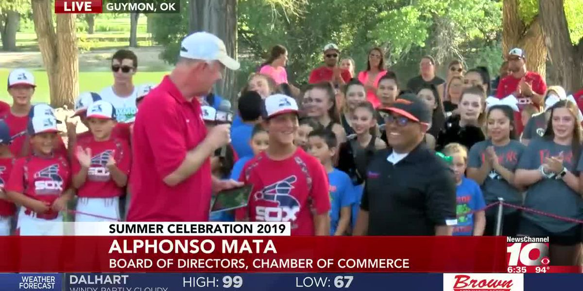 SUMMER CELEBRATION: Allan Gwyn interviews Alphonso Mata with the Guymon Chamber of Commerce