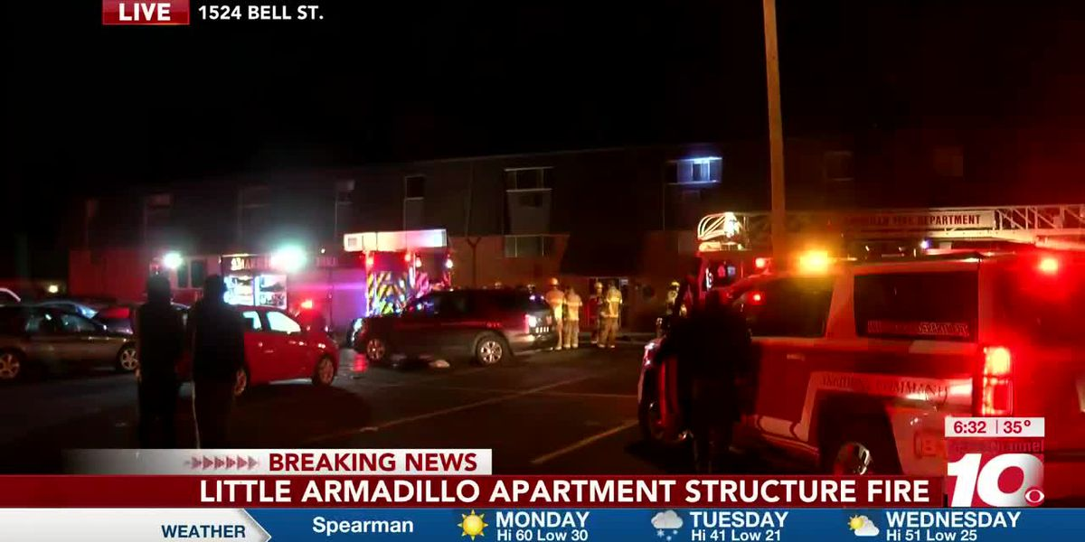 VIDEO: 1 person taken to the hospital, residents, pets rescued during apartment complex fire in northwest Amarillo