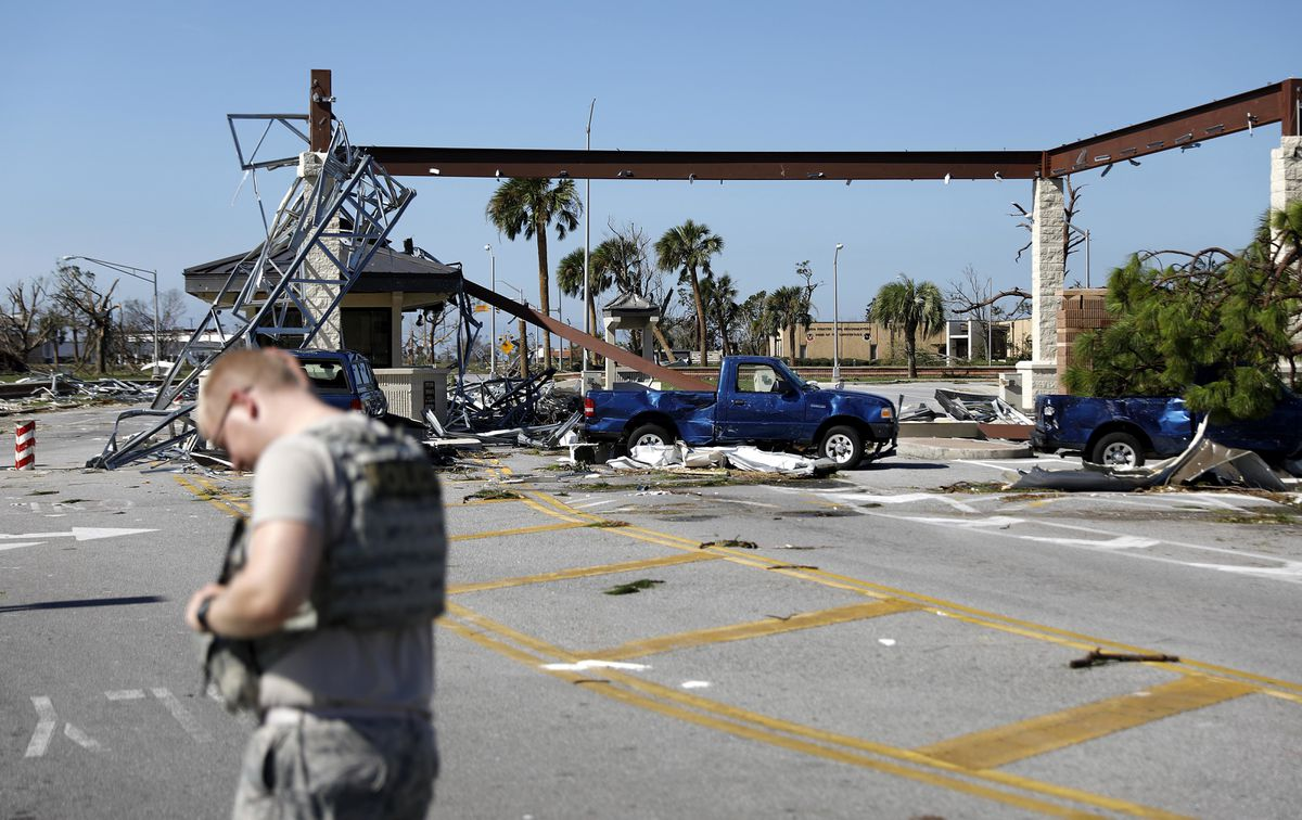 with direct hit  hurricane michael wrecked tyndall air