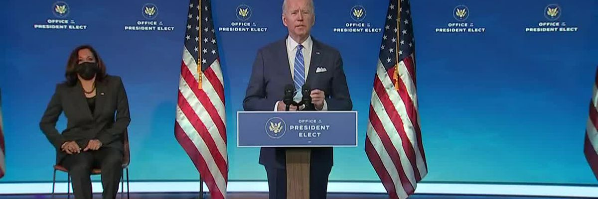 President-elect Biden's COVID-19 proposal addresses vaccine distribution and economic aid