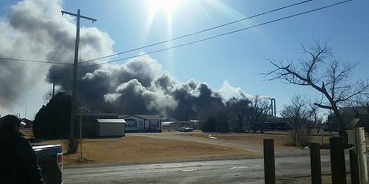Fire at W&W Fiberglass in Pampa under control, no injuries reported