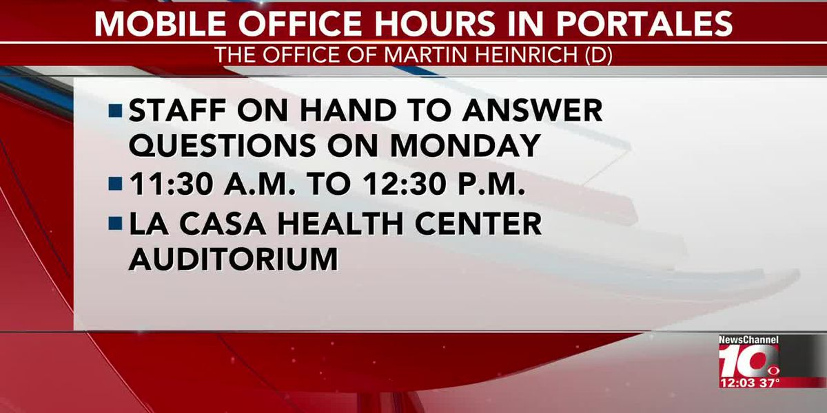 VIDEO: U.S. Senator Heinrich's staff to hold mobile office hours in Portales