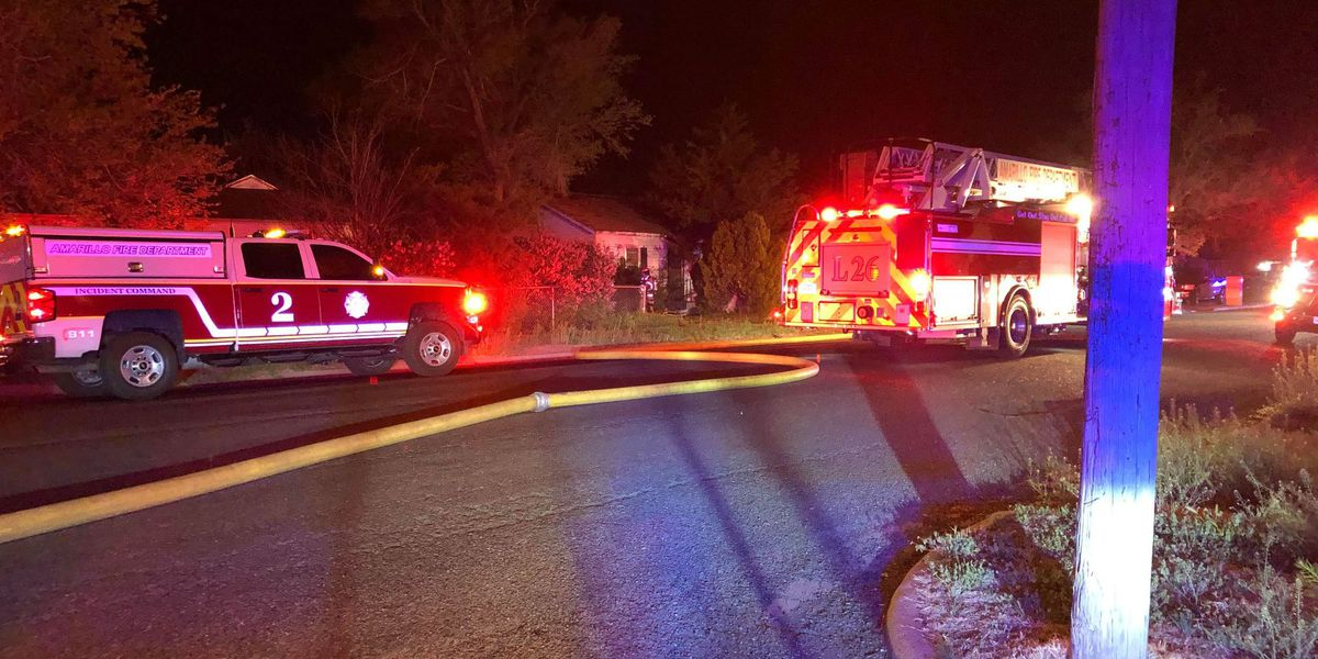 Crews extinguish blaze at abandoned Amarillo home