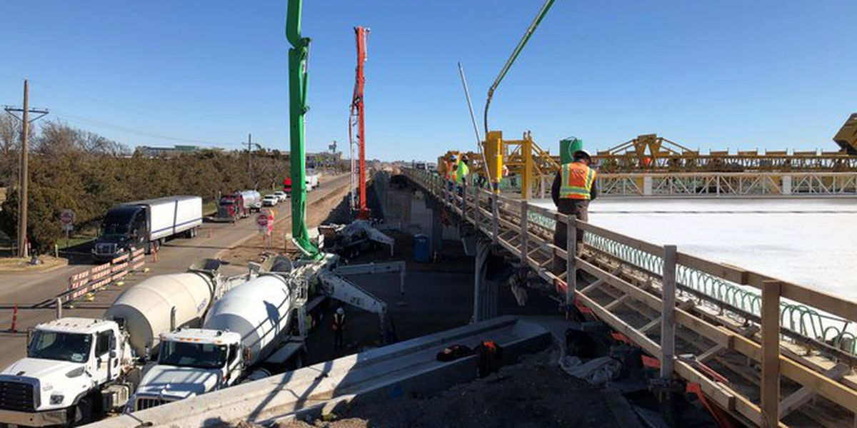I-27 Northbound overpass at Hollywood open, I-40 at Whitaker Westbound bridge replacement underway