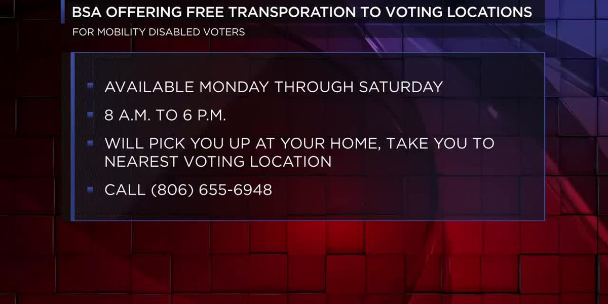 BSA to offer rides to people with mobility issues to polling places