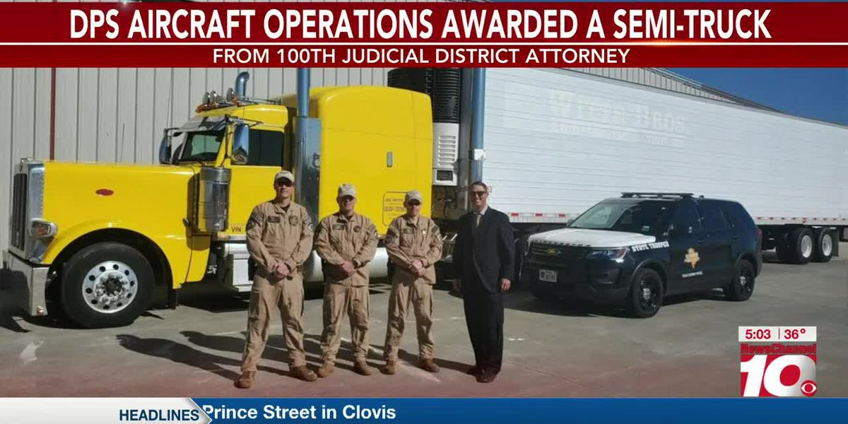 VIDEO: Texas DPS awarded semi-truck seized in drug bust to be used for law enforcement purposes