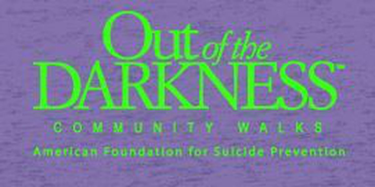 Out of the Darkness Walk in memory of those lost to suicide and to support loved ones left behind by a suicide