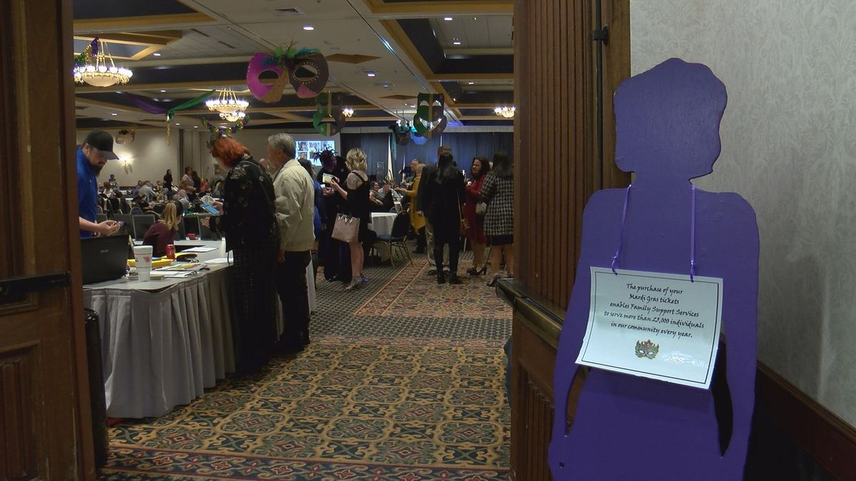 Family Support Services hosts 10th Annual Mardi Gras Party