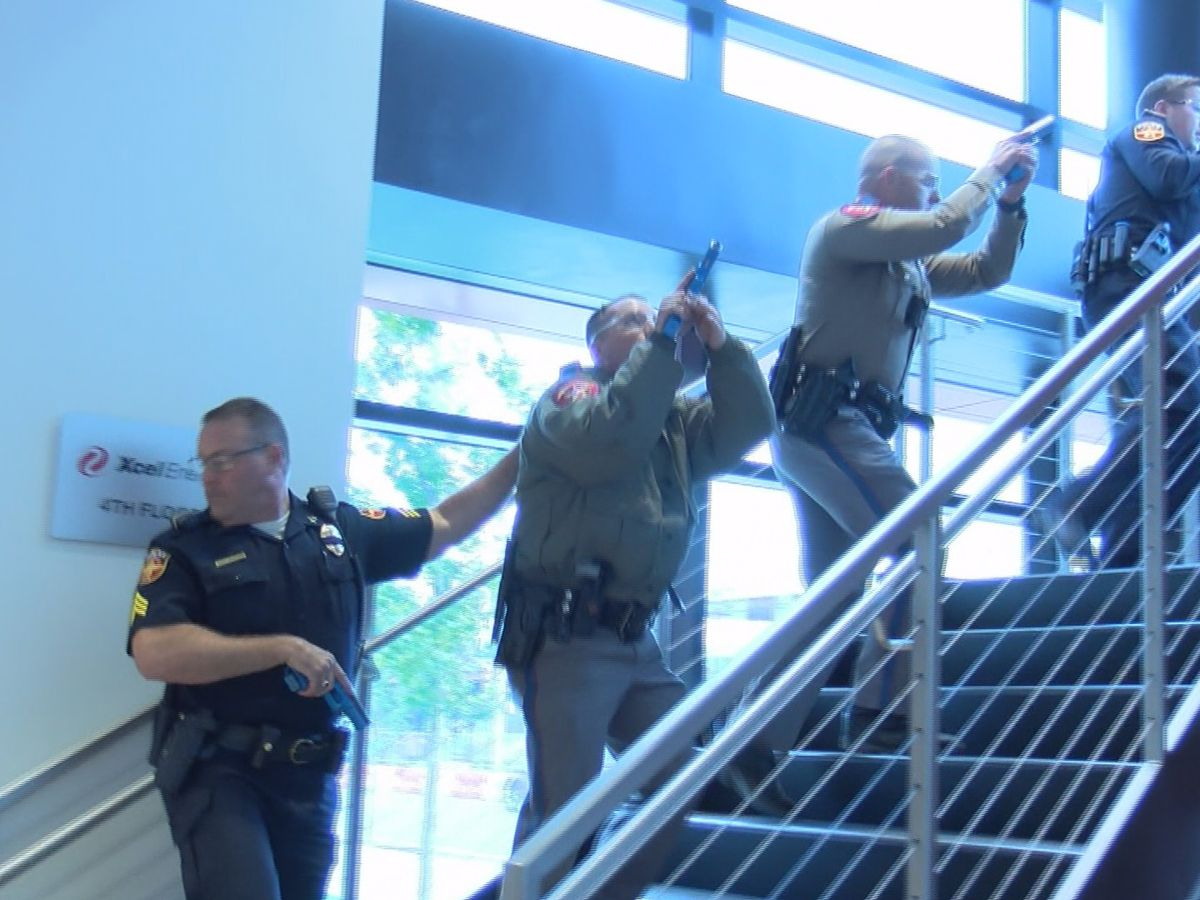 Local first responders participate in active shooter training with Xcel Energy