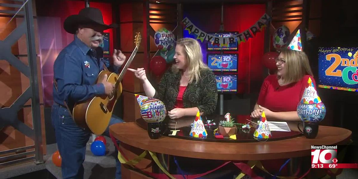 2ND CUP BIRTHDAY: Ed Montana celebrates the show's birthday with a song