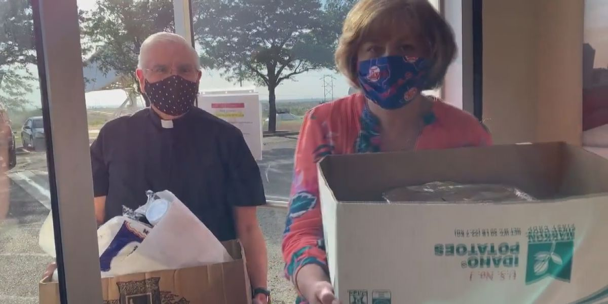 """""""We're trying to say thank you"""": Church serves meals to those on the front lines"""