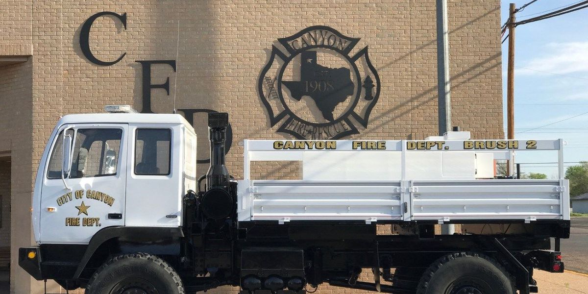 Canyon VFD receives $20,000 grant, military vehicle