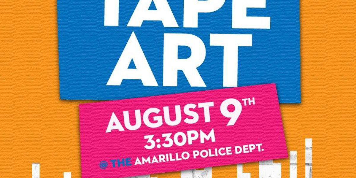 Tape artists to deck out the Amarillo Police Department with painter's tape