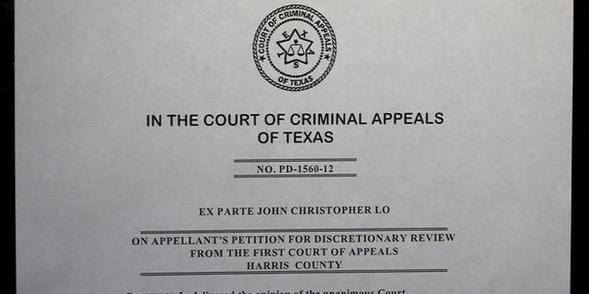 Greg Abbott wants the state's criminal appeals court to reconsider striking down a law