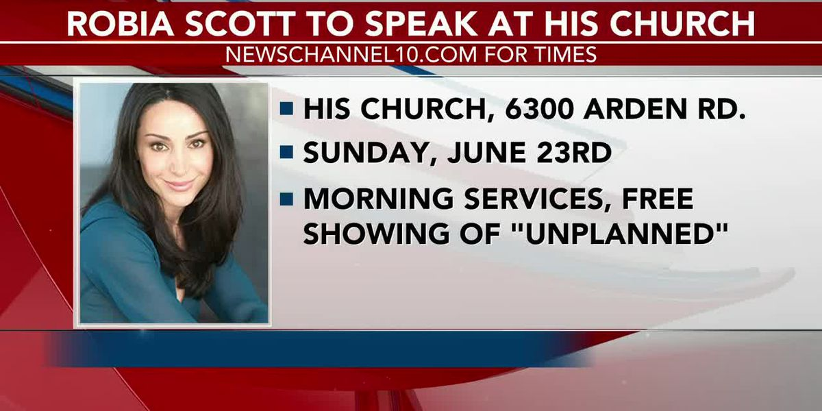 His Church to host Robia Scott, star of pro-life film 'Unplanned'