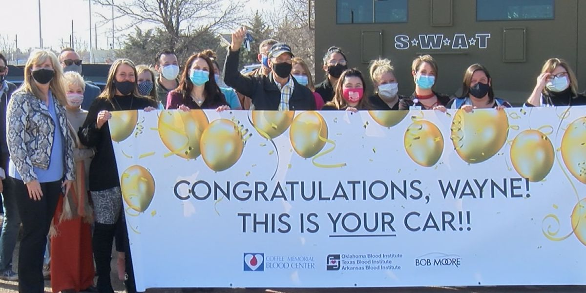 Amarillo blood donor wins new car from Coffee Memorial Blood Center