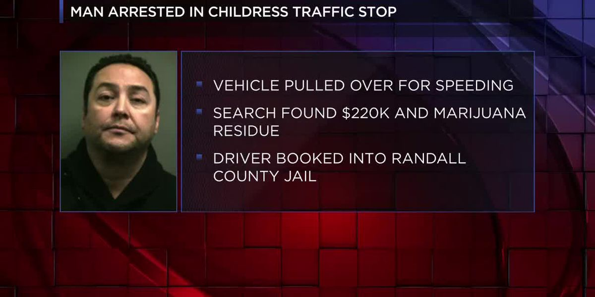 VIDEO: 1 arrested for money laundering charge after traffic stop in Childress