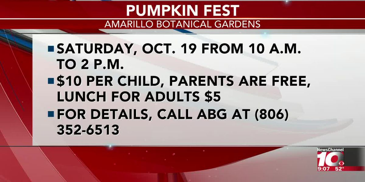 INTERVIEW: Gina talks about Pumpkin Fest at Amarillo Botanical Gardens