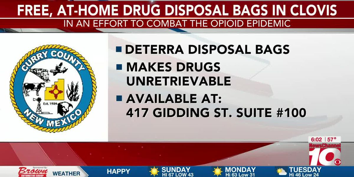 Free drug disposal bags available for Clovis area residents