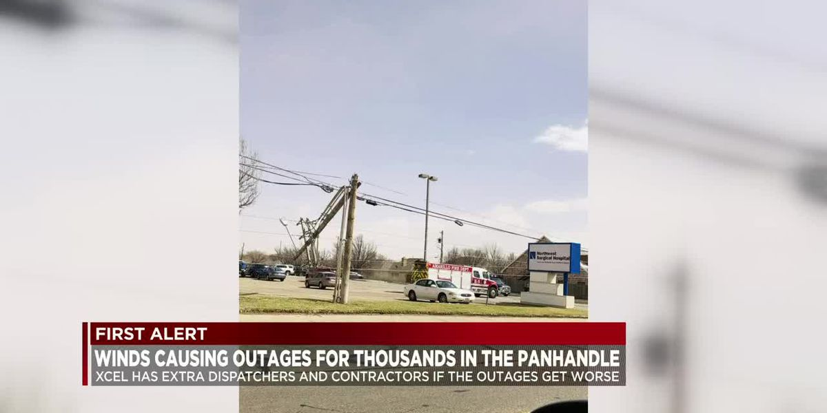 High winds cause power outages around the Tx Panhandle, Eastern NM