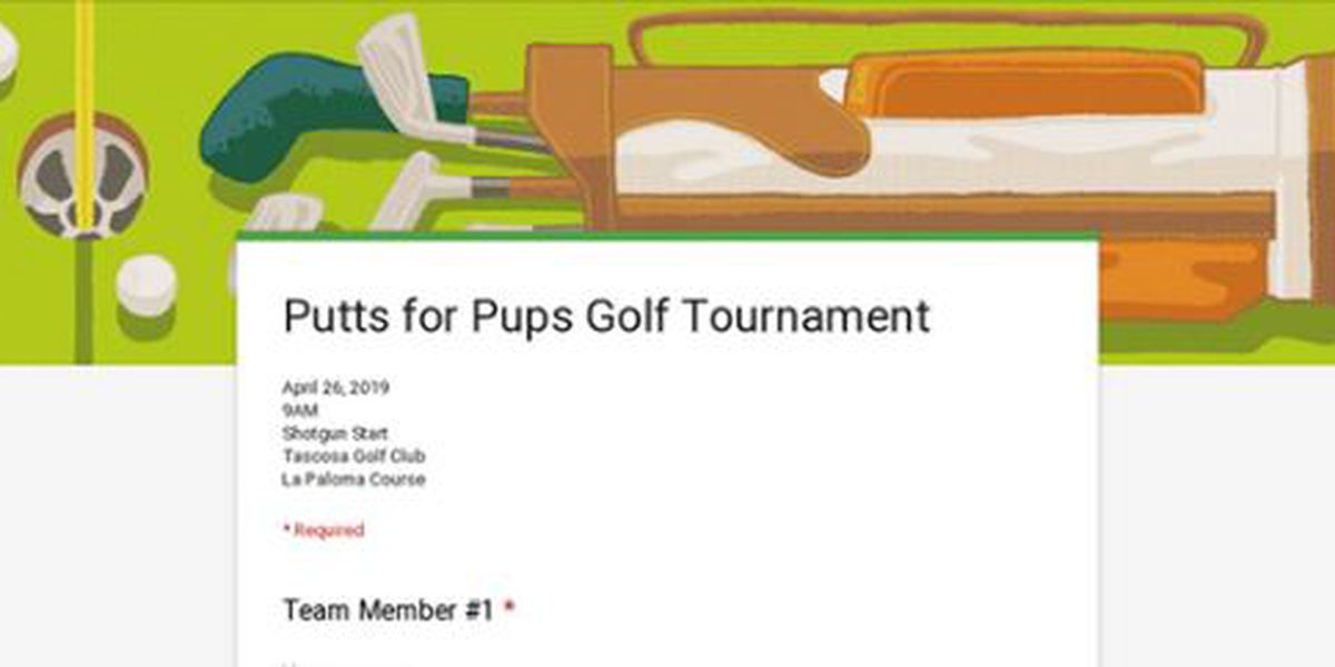 Registration for Putts for Pups Golf Tournament underway