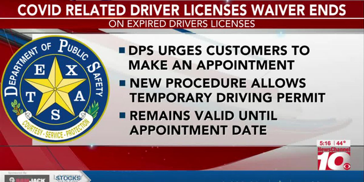 VIDEO: DPS waiver for expired licenses has ended, temporary licenses available