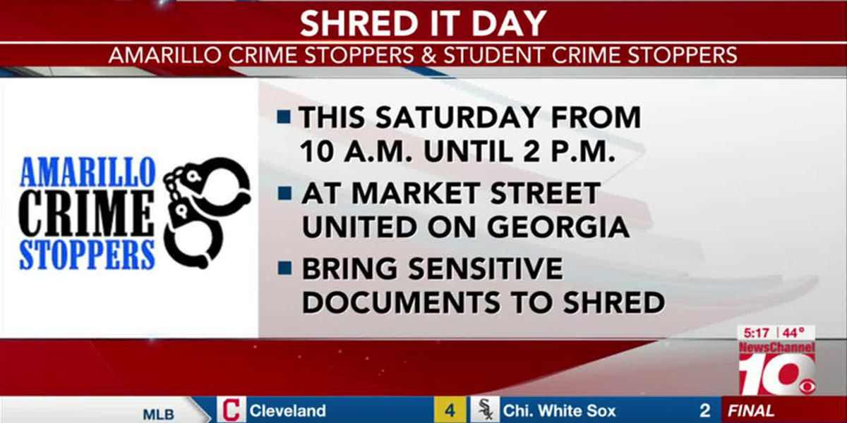 VIDEO: Amarillo Crime Stoppers to host 14th Annual Shred It Day this weekend