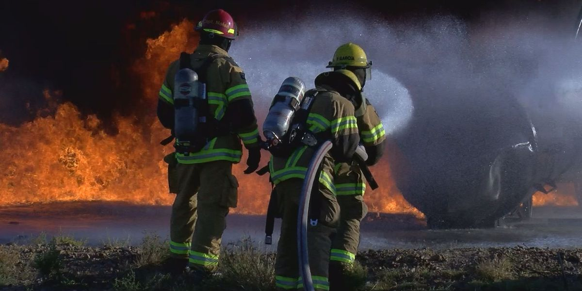 Amarillo firefighters test new equipment on mock plane crash