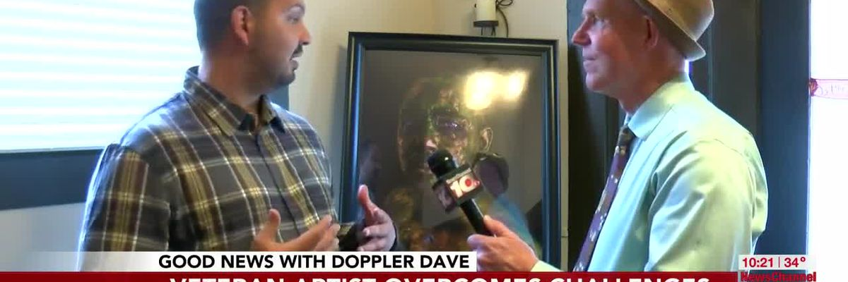Video - Good News with Dave: Veteran Artist overcomes challenges, wins award - KFDA