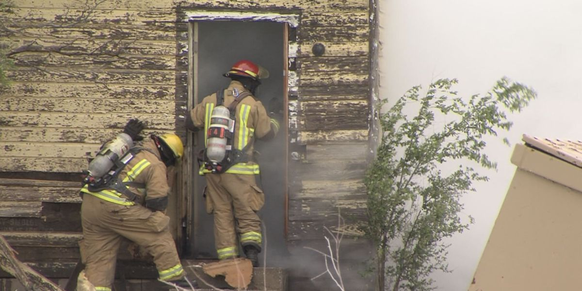 Structure fire damages apparent makeshift apartment