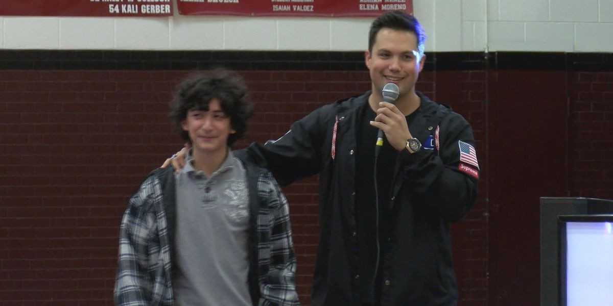 From a hard childhood to Hollywood: Actor brings message of self-empowerment to Hereford students