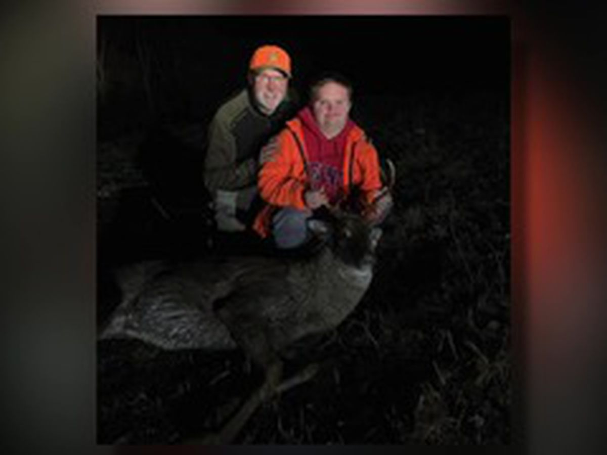 Teen with Down syndrome bags first buck