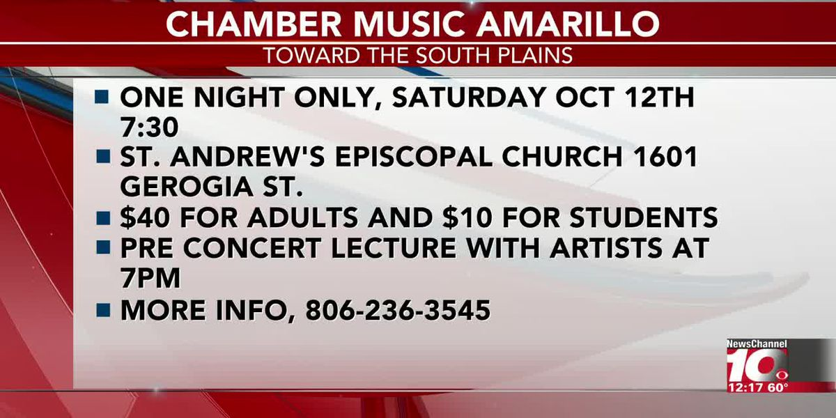 INTERVIEW: Chamber Music Amarillo is hosting a concert for one night only