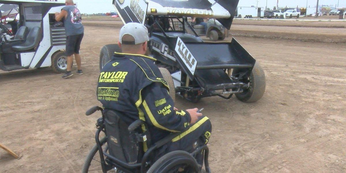 Paraplegic sprint car driver feels at home in Amarillo
