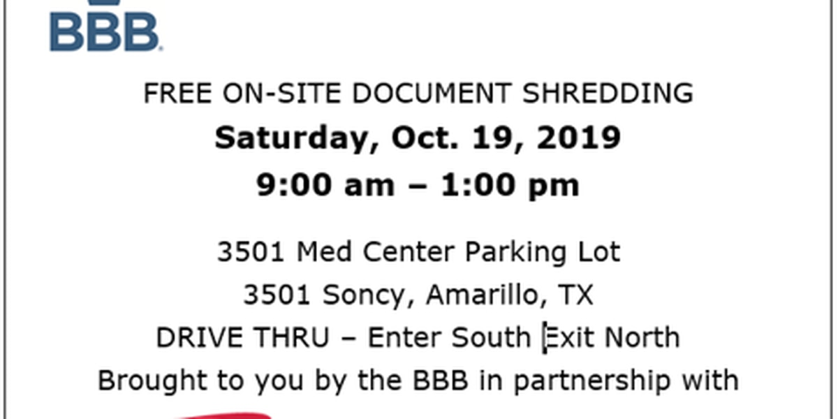 Protect yourself from identity theft at the BBB's shred event