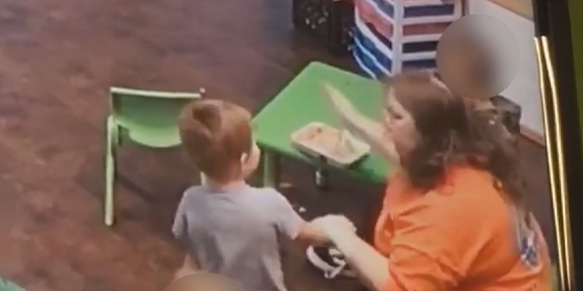 Video shows day care worker hit child in the face